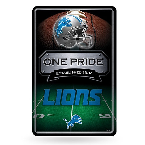 Detroit Lions Metal Sign