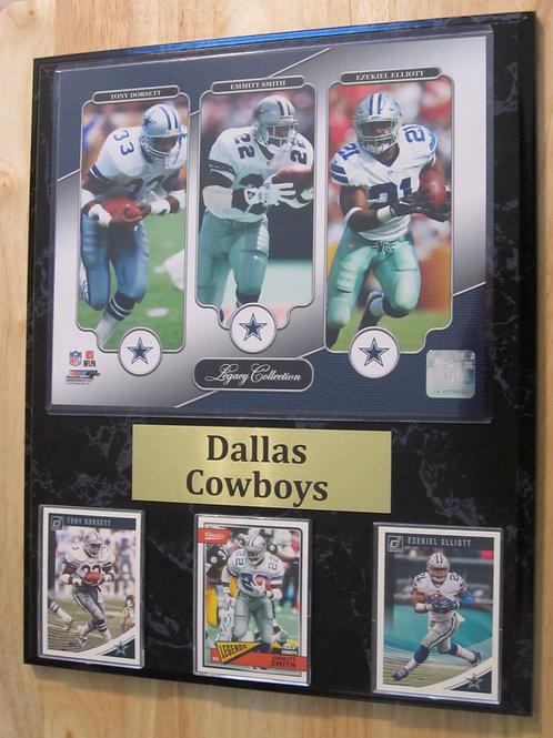 Dallas Cowboys RB Legacy Plaque