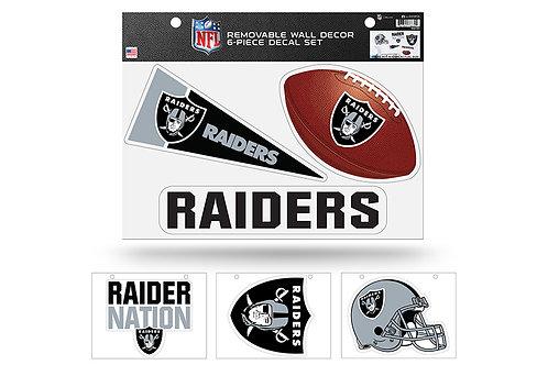 Las Vegas Raiders 6 pack Wall Decals