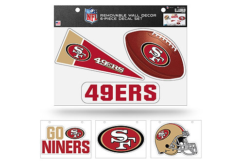 San Francisco 49ers 6 pack Wall Decals