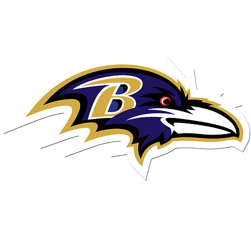 "Baltimore Ravens 8"" Auto Decal"