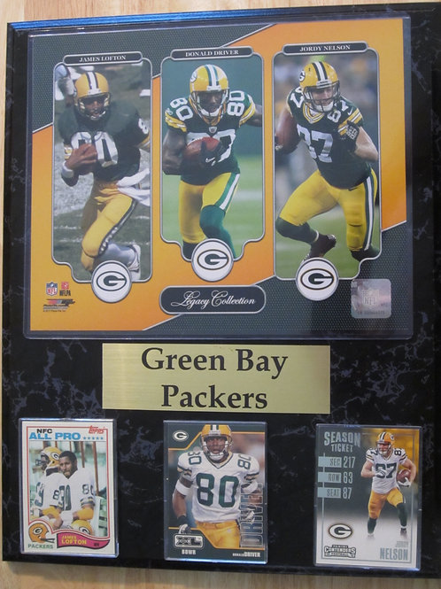 Green Bay Packers WR Legacy Plaque