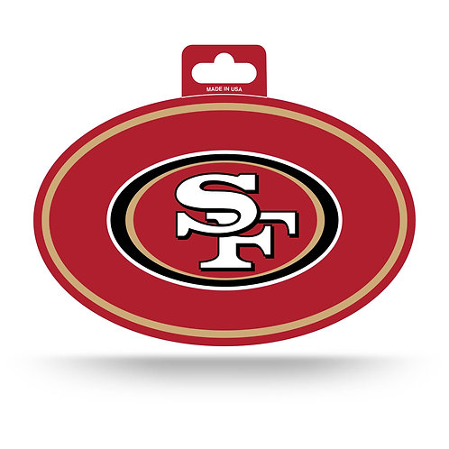 San Francisco 49ers Oval Sticker