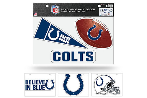 Indianapolis Colts 6 pack Wall Decals