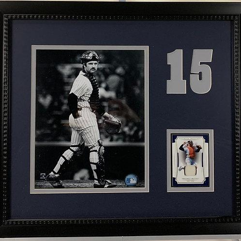 New York Yankees Thurman Munson Game Used Jersey Card