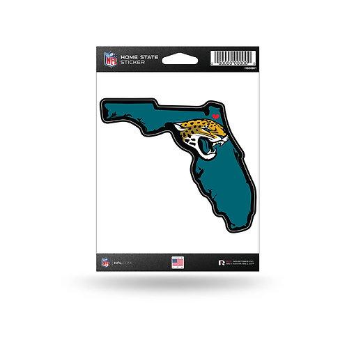 Jacksonville Jaguars Home State Sticker