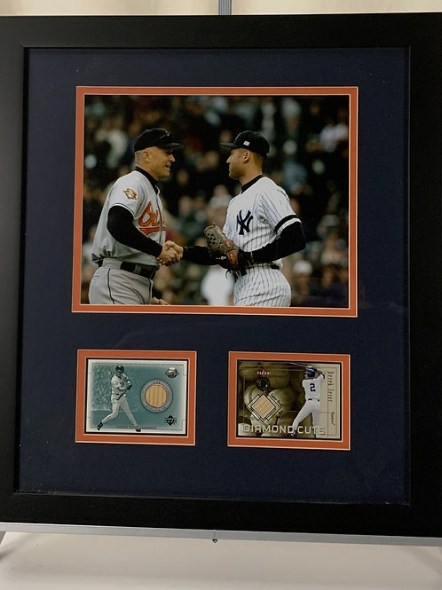 Cal Ripken Jr. & Derek Jeter Game Used Bat Cards