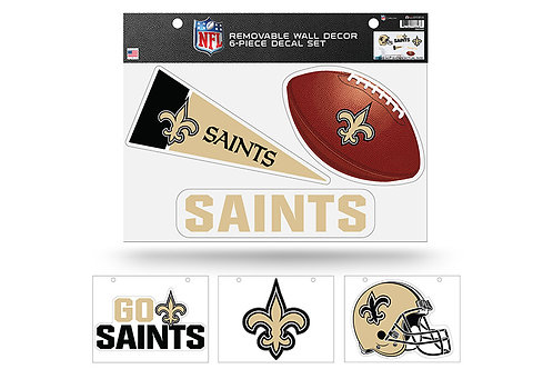 New Orleans Saints 6 pack Wall Decals