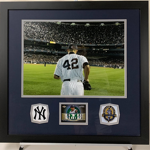 New York Yankees Mariano Rivera Game Used Jersey Card Enter Sandman