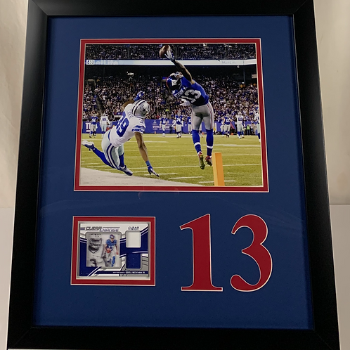 New York Giants Odell Beckham Jr. Game Used Jersey Card
