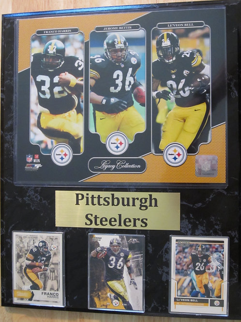 Pittsburgh Steelers RB Legacy Plaque