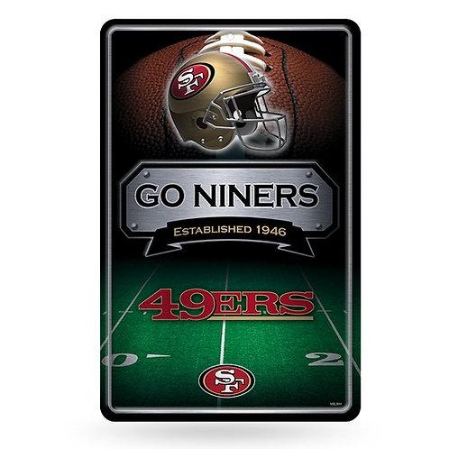 San Francisco 49ers Metal Sign