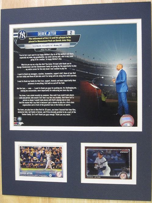 Derek Jeter Tribute Matted Photo