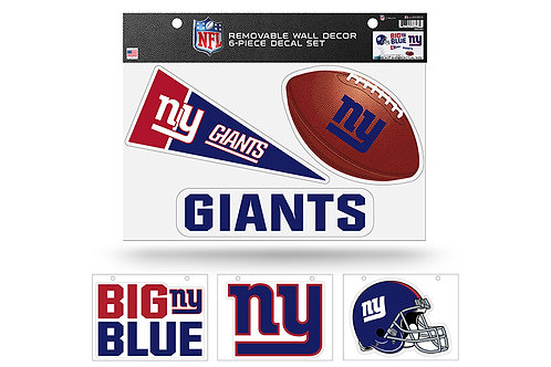 New York Giants 6 pack Wall Decals