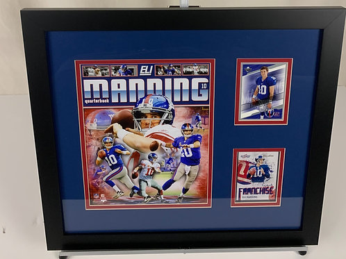 New York Giants Eli Manning Autographed Card & Rookie Card