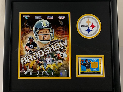Pittsburgh Steelers Terry Bradshaw Piece of Three Rivers Stadium Seat