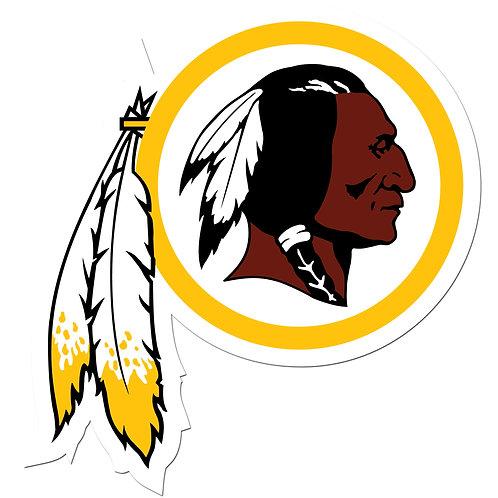 "Washington Redskins 8"" Auto Decal"