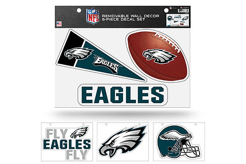 Philadelphia Eagles	6 pack Wall Decals