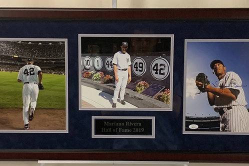 New York Yankees Mariano Rivera Autographed HOF 2019