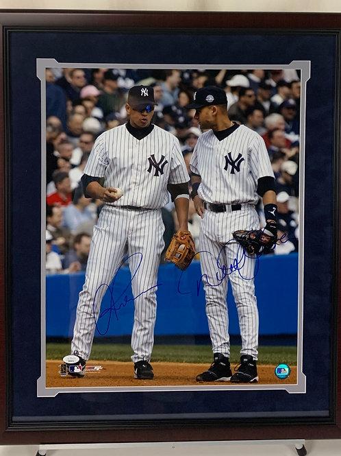 New York Yankees Autographed Derek Jeter & Alex Rodriguez