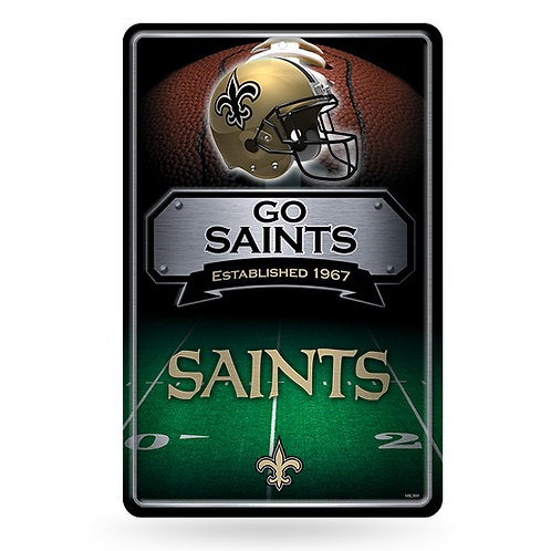 New Orleans Saints Metal Sign