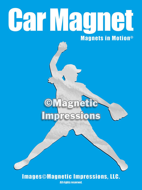 Softball Pitcher Magnet in Motion