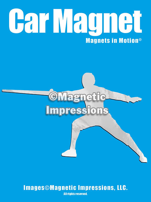 Male Fencer Magnet in Motion
