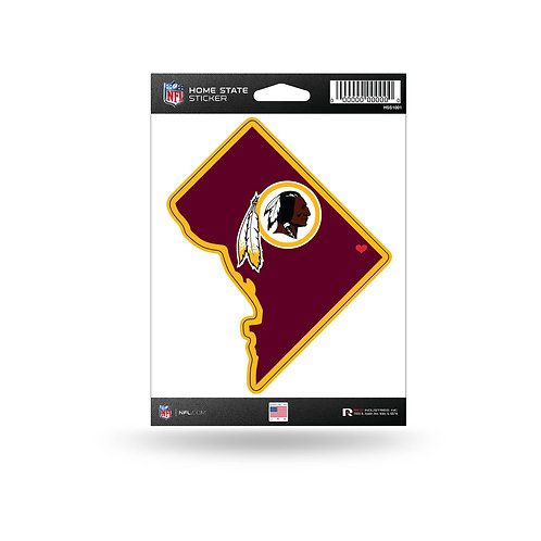 Washington Redskins Home State Sticker