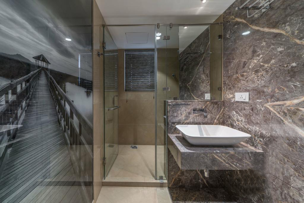 Italian Marble Bathroom