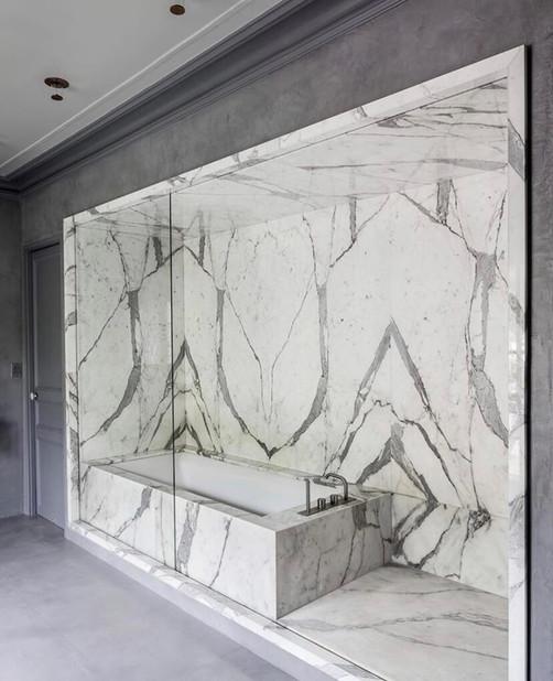 Italian Marble Bathroom