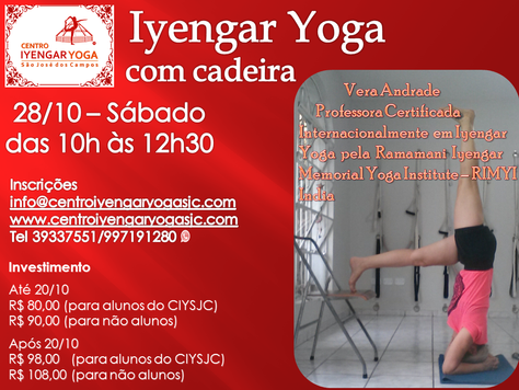 Iyengar Yoga com a cadeira