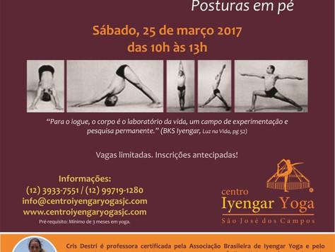Aulão Iyengar Yoga com Cris Destri