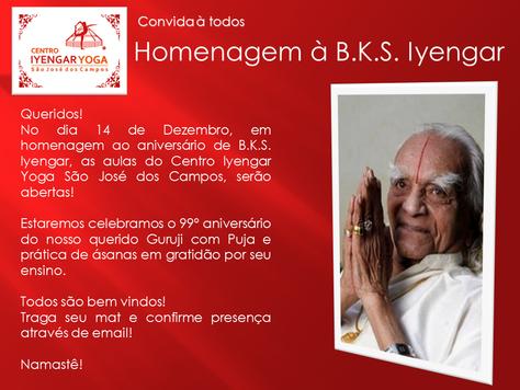 Homenagem à B.K.S. Iyengar