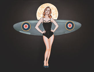Spitfire pinup
