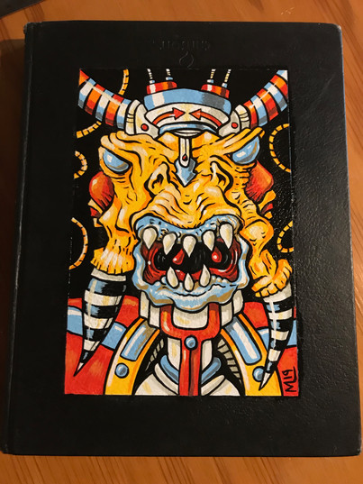 Painted sketchbook cover (gifted)