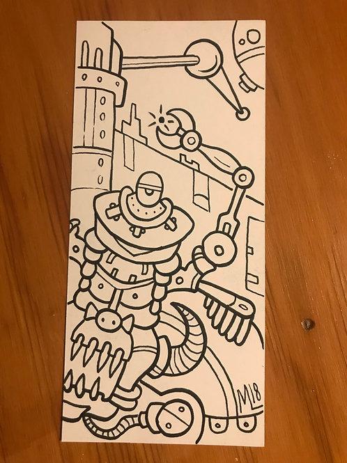 Atom Hunter! original drawing