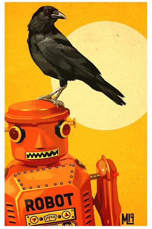 """Crowbot 1"" original digital print"