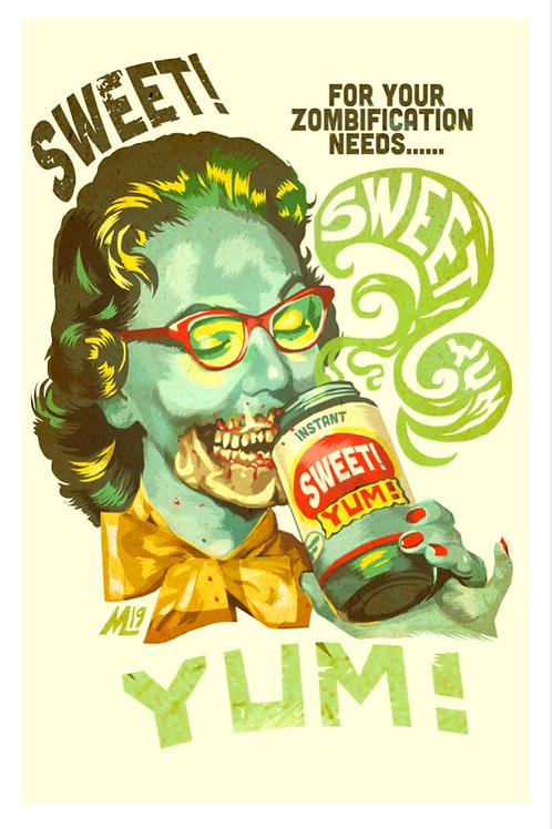 """""""Sweet Yum"""" original digital print"""