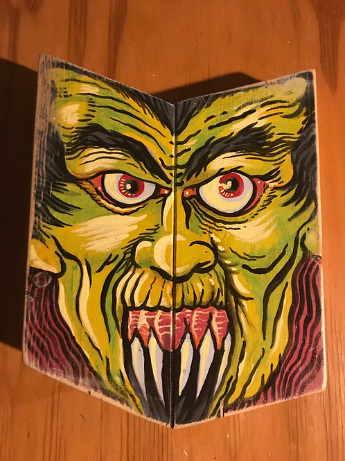 """""""Warlok"""" acrylic on wood"""