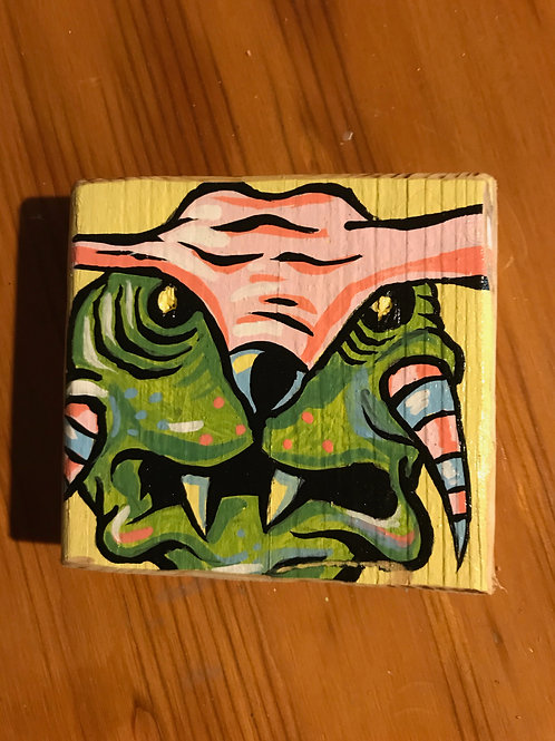 """Parker"" acrylic on wood mini painting"