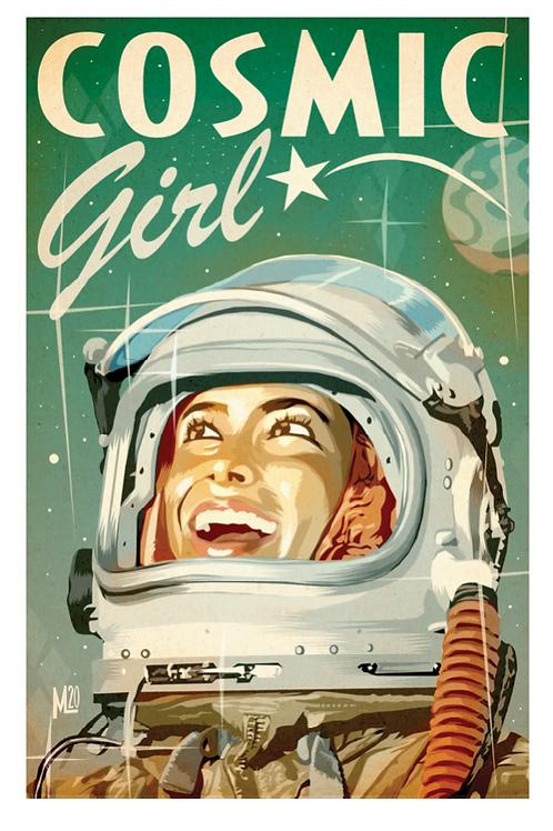 """Cosmic Girl"" original digital illustration print"