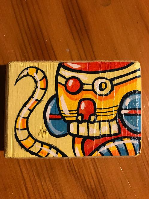 """Bart"" original acrylic on wood mini painting."