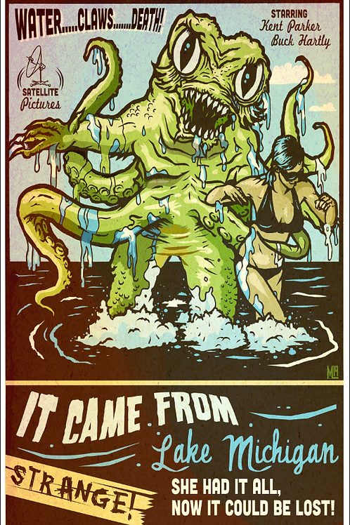 It Came From Lake Michigan (Poster print)