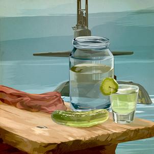 Pickle juice shot chaser Submarine Fuel cocktail