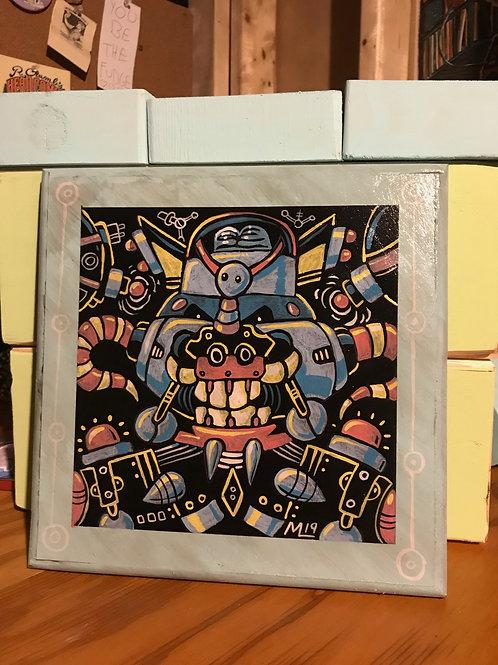 """""""Smogbot"""" (original artwork on wood"""""""