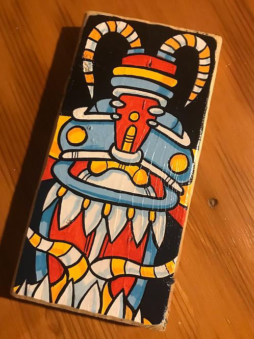 Tongue Bot! (original Painting) acrylic on wood