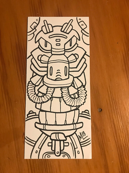 """""""Snortbot"""" original pen drawing"""