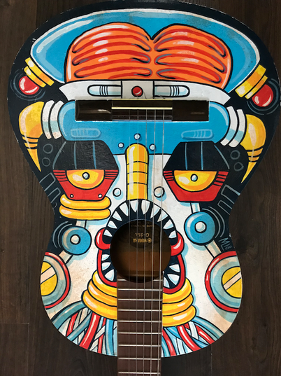 Angry Brainbot Guitar (SOLD)