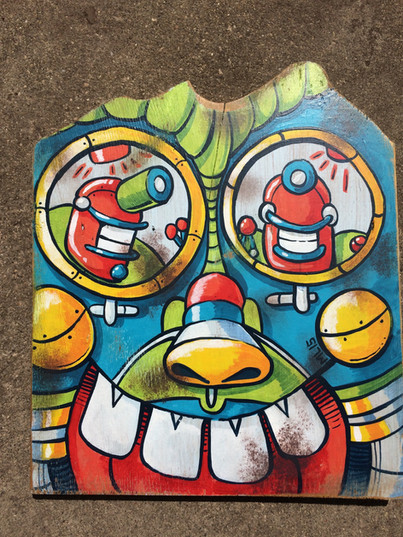 """Giant Robot Head"""