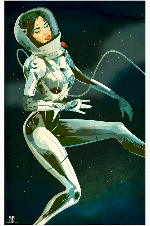"""Space"" 17 x 11 digital illustration (Print)"